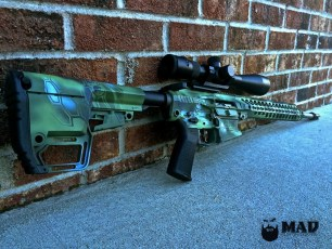 Rainier Arms .308 AR in MAD Dragon