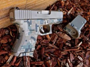 Glock 27 in 3 color Digital Camo Cerakote