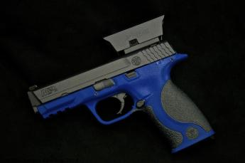 M&P in Sky Blue & Tungsten Cerakote