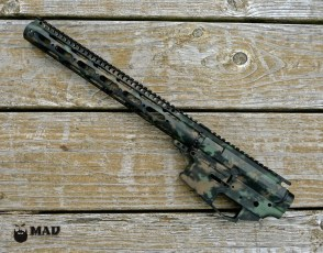MAD Grunge Camo in Black, Burnt Bronze & Highland Green Cerakote