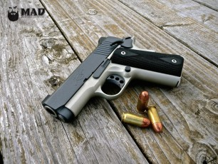 Kimber 1911 in Cerakote Blue Titanium and Shimmer gold