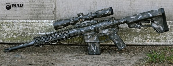 MAD Grunge Camo on a Wilson Combat 458 Socom