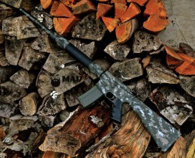 Stag Arms AR15 in 3 color MAD Grunge Camo