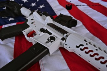 AR45 in Bright White and MAD Black w/ Chris Kyle Memorial logo