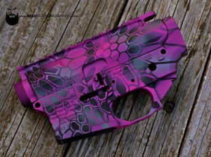 Ft. Discovery AR15 receiver set in Pink MAD Dragon