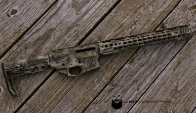 AR15 in Cerakote MAD Dragon using Magpul FDE, Desert Sand & OD Green