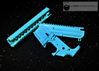 Daniel Defense AR15 set in Cerakote Robin's Egg Blue