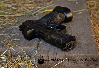 S&W M&P in MAD Hex w/ MAD Skulls in MAD Black & Burnt Bronze