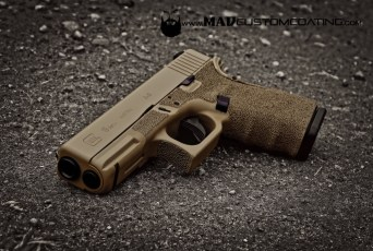 Glock 19 in Mud Brown & MAD Black