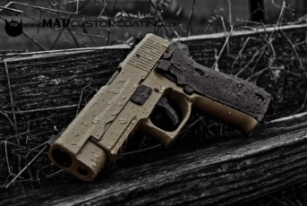 Sig P220 in Magpul FDE w/MAD Black components