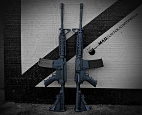 MAD Black everything on a pair of Colt ARs