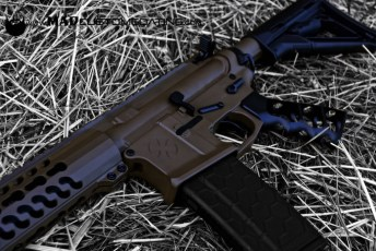 Patriot Brown and MAD Black on a Noveske AR15 and Tactical Dynamics Skeletonized grip