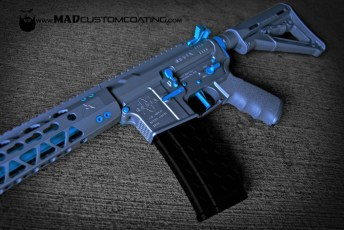 Gun Metal Grey & Custom Teal Mix on a Mega Arms AR15 set