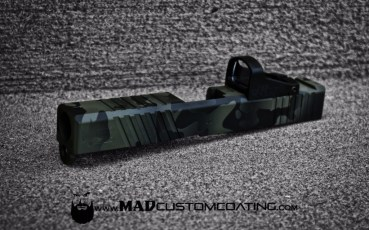 MADLand Camo on a Glock 23 Slide in MAD Black & Magpul Foliage Green