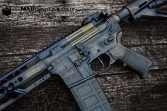 War Torn on a War Sport AR15 in Burnt Bronze & Black