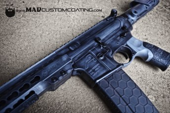 War Torn on an Aero Precision AR15 in MAD Black & Combat Grey