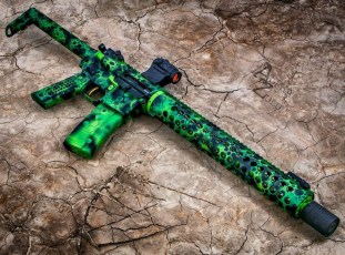 Toxic Theme on an AR15, photo by AZ Photos