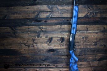 Midnight Blue & Snakeskin Cerakote Shotgun