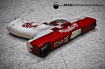WSU Themed M&P in Crimson & Satin Aluminum