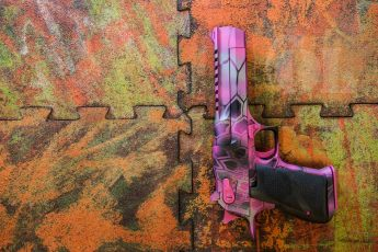 Pink MAD Dragon on a .50 cal Desert Eagle