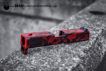 Red Lace on a Diamond Back DB9 Slide
