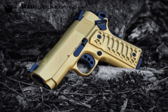 Cerakote Gold & MAD Black on a Colt 1911