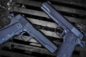 MAD Black on Colt 1911 pistols