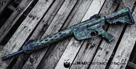 MADLand Camo on a Colt .308 AR