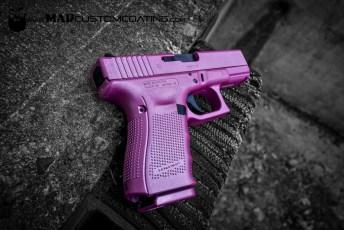Pink Pearl Cerakote on a Glock 19