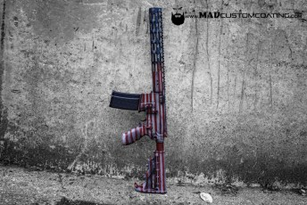 War Torn America Theme on a Sig Sauer AR15