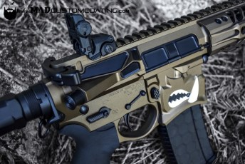 Dark Bronze and MAD Black on a Spike's Warthog AR15