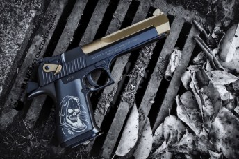 MAD Black & Burnt Bronze on a Desert Eagle .50 cal