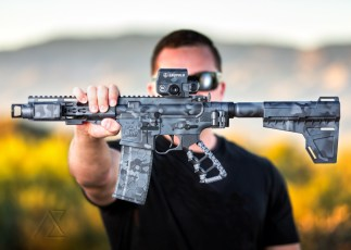 MADLand Camo on a custom AR pistol