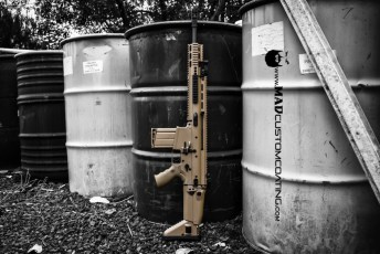 FN SCAR 17 in Cerakote Mud Brown