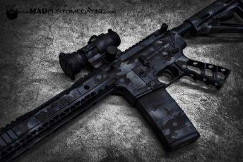 Black MADLand Camo on a Black Rain Ordnance AR15