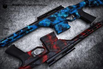 Blue & Red MAD Dragon Camo Savage Rifles