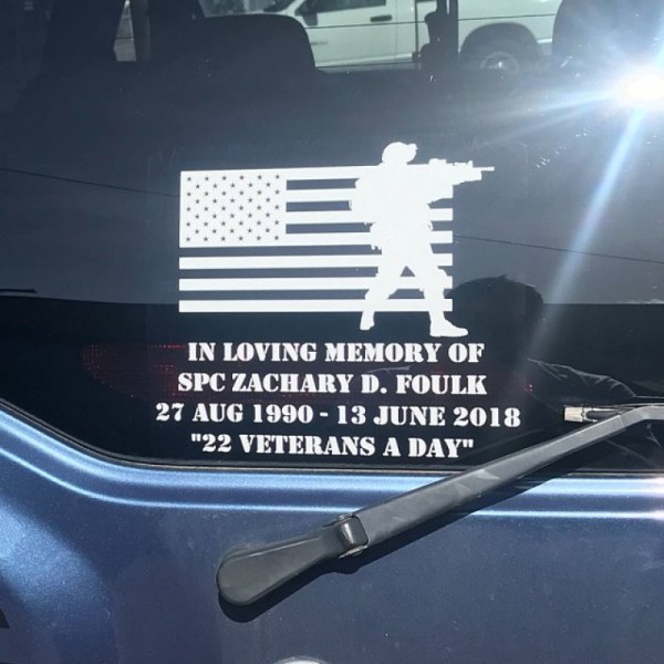 Soldiers Flag Memorial Decal