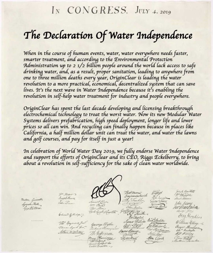 waterdeclaration