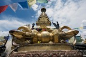 """The """"vajra"""" at the base of the stupa"""