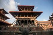 Shored up Vishwanath Temple (Patan Durbar Square)