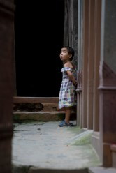 Little girl staring: Patan