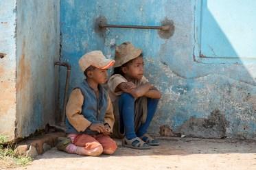 Two kids sitting