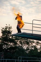 Diver on fire!