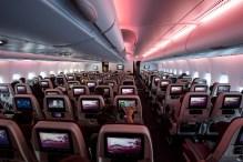 Inside one of Qatar Airways' Airbus A380-800s.