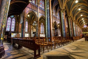 Inside the church of Notre-Dame, Bonsecours, France.