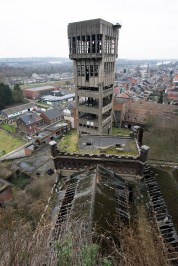A view of shaft 3's concrete tower from shaft one