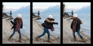 Throwing stones, Switzerland.