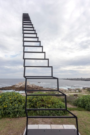 """Staircase to heaven. A """"trompe-l'œil"""" by Strijdom van der Merwe (on a cloudy afternoon.)"""