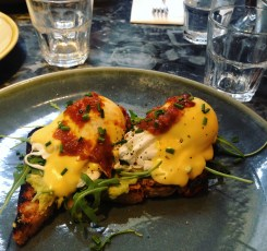 Eggs Benedict with Avocado & Salsa