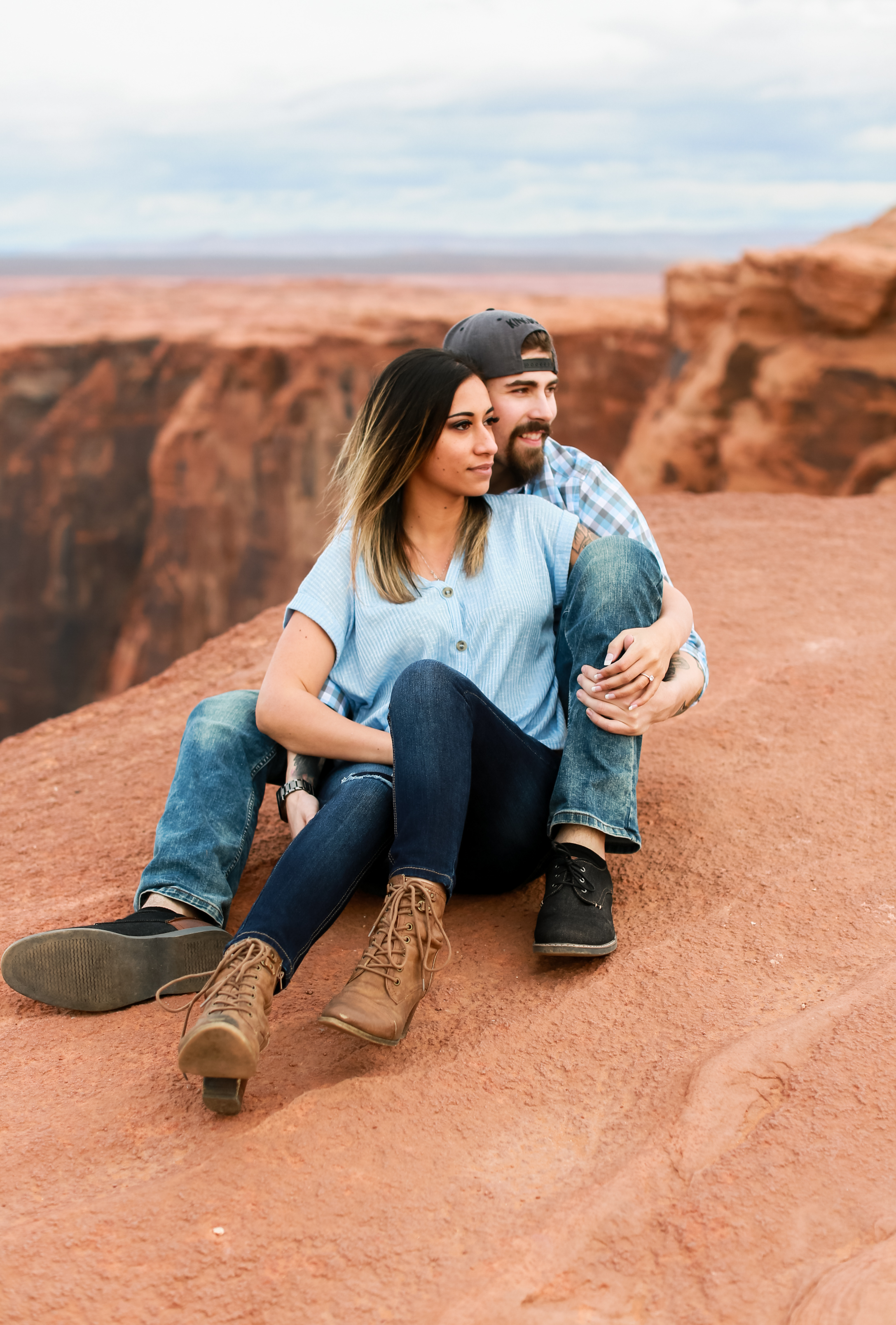 Horseshoe Bend Arizona Engagement Photography